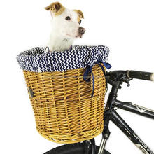 Wicker Cruiser Pet Bicycle Basket