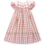 Wholesale smocked baby dress for girls with spring summer pattern