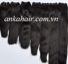 Perfect quality !!Super double drawn virgin human hair Vietnam , 100% equal weft hair full lengths