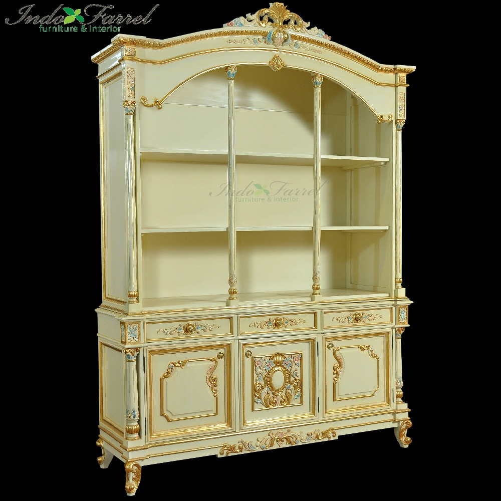 NEW Design Antique library Wooden Bookcase Cabinet Living Room - Book rack Shelf Furniture