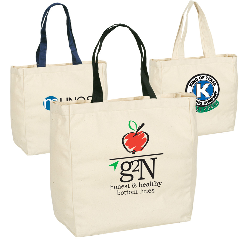 SUPER MARKET cotton bags with logo