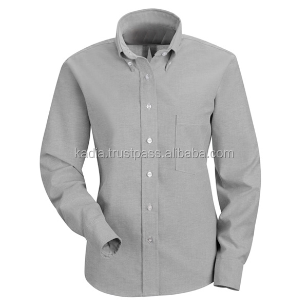Sports Grey Ladies Dress Shirt