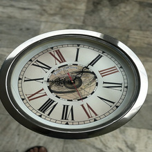 VINTAGE LOOK STAINLESS STEEL CORNER TABLE FOLDABLE CLOCK TABLE