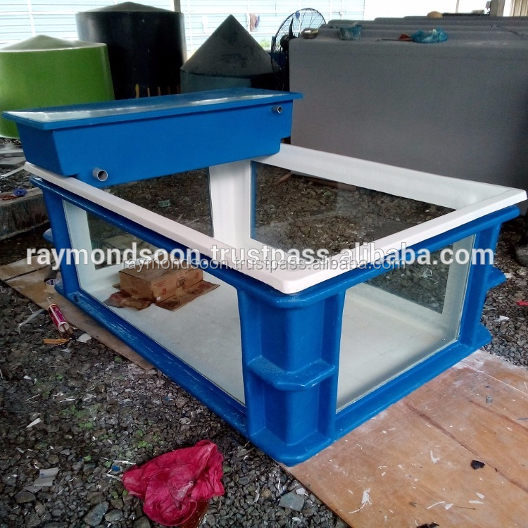 Rectangular Tank L 6ft x W 4ft x H 2.5ft With 1 or 4 Glass = USD 450 - 600 / Unit