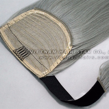 2018 Hottest human cuticle aligned real hair extensions Ponytail/Clip-in High quality all colors shopping online