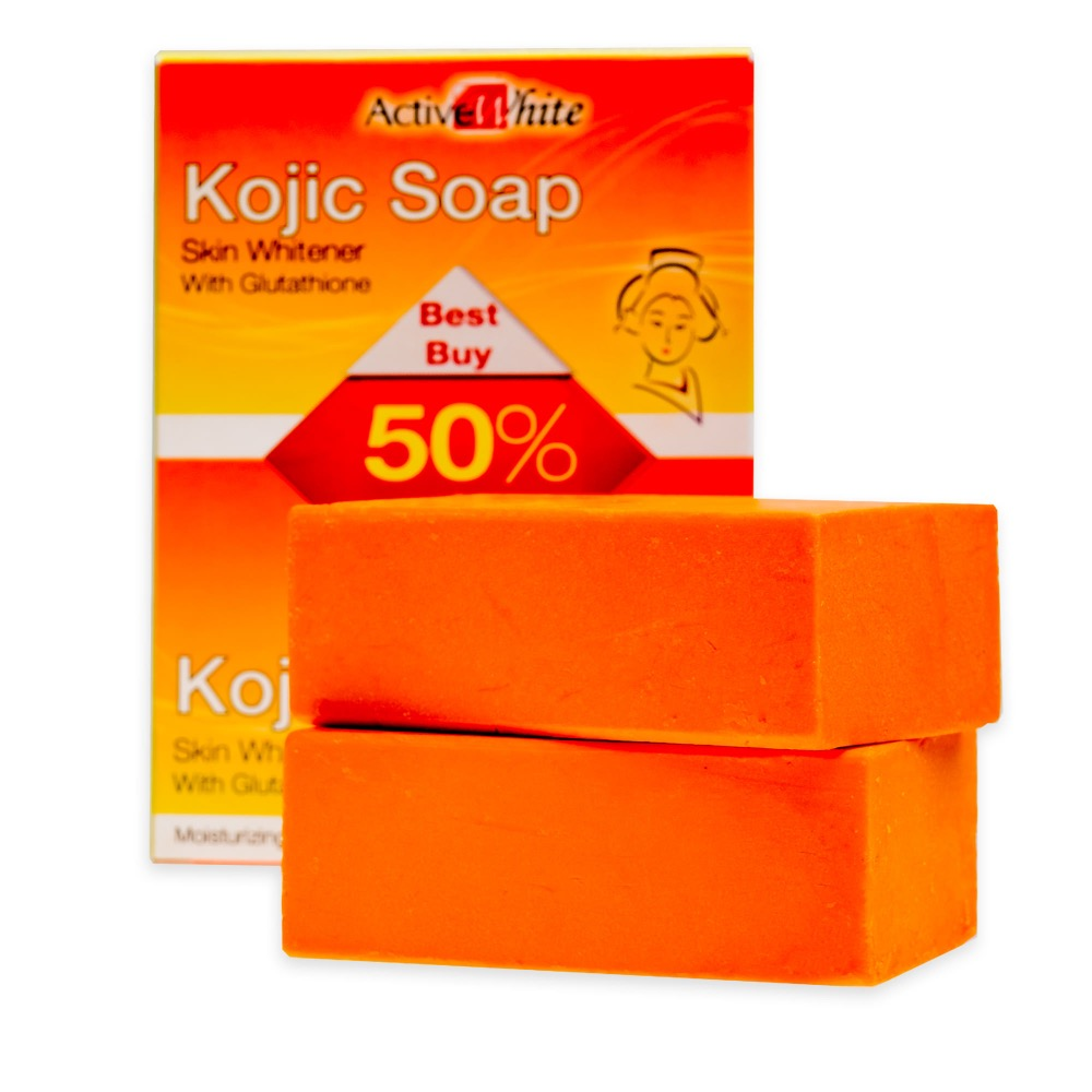 Active White Kojic Soap Skin Whitener with Glutathione 135g