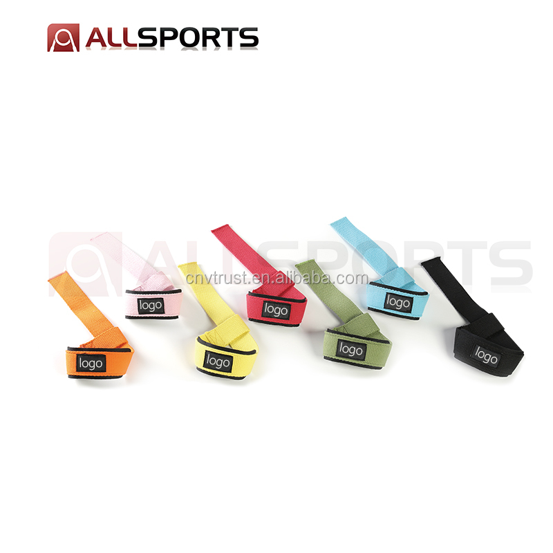 Bodybuilding  weight lifting gym wrist straps / battery lifting strap  for Fitness Training