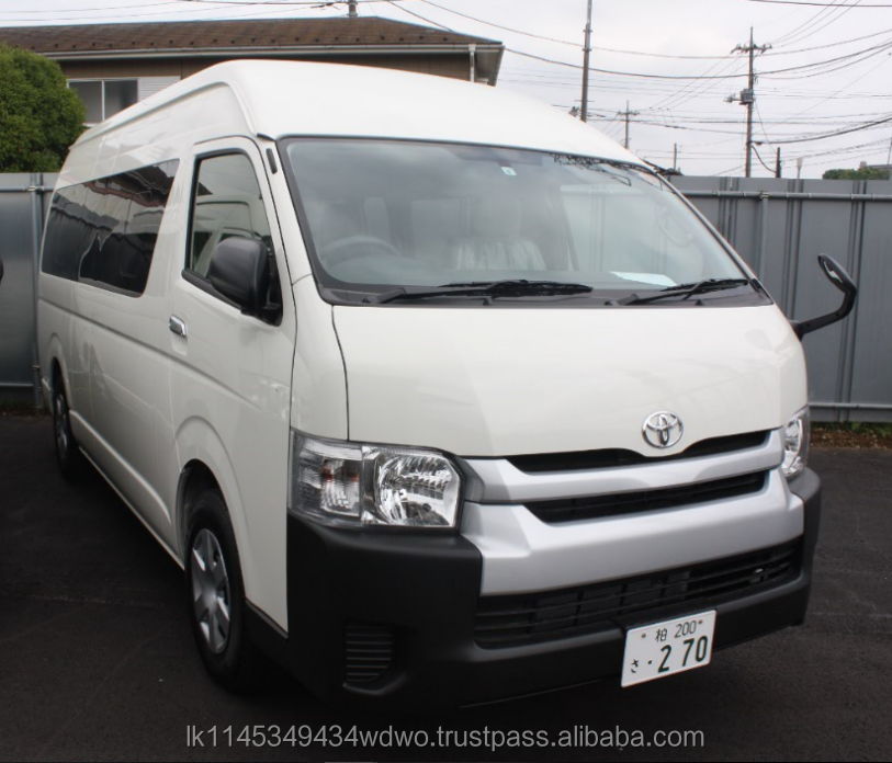 B/N Toyota Hiace Commuter Van 2017 Model For sale from Japanes Supplier