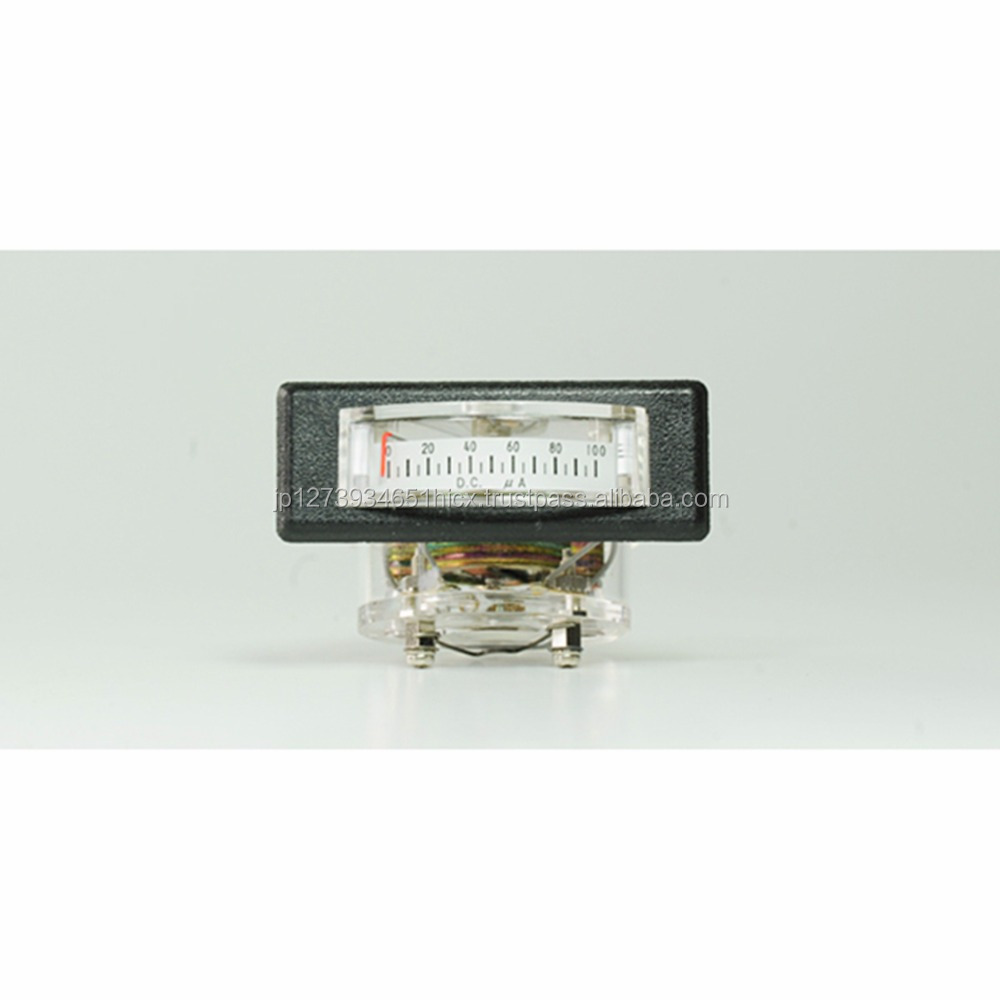 transparent acrylic resin electric power meter with black escutcheon made in Japan