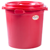 Malaysia Made Pail Bucket Barrel Greater Thickness 6 Gallon Plastic Pail Bucket with Cover Red