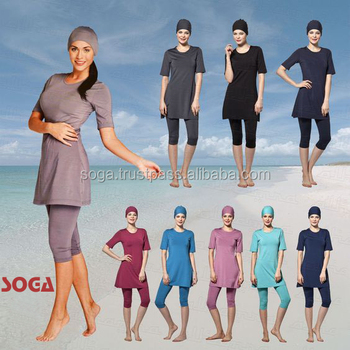 Soga NEW Capri Modest Swimwear Swimsuit Muslim Islamic Beachwear Sportswear