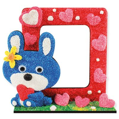 New Arrival DIY Craft Modeling Foam Clay Photo Frame Kit - Rabbit