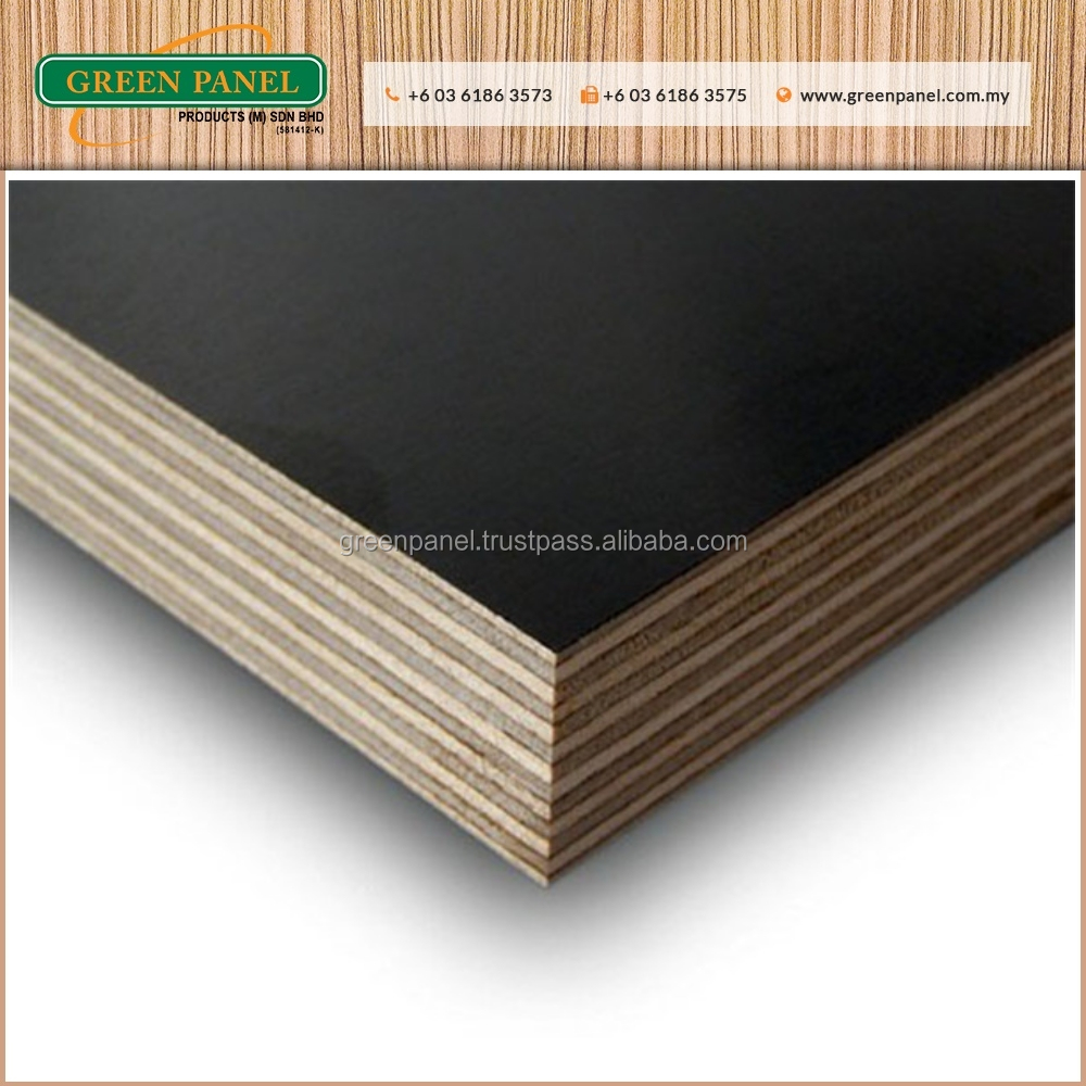 New High Quality Black Melamine Plywood Board for Home Furniture Design