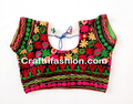 Hand Embroidered Kutch Work Blouse- Readymade Embroidery Saree Blouse - Multicolor embroider blouse - Designer saree Blouse