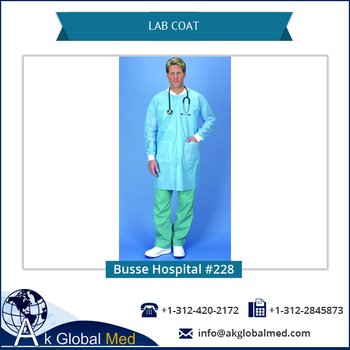 Busse Hospital 228 Anti-bacterial Disposable Medical Lab Coat / Coverall with Shirt Collar