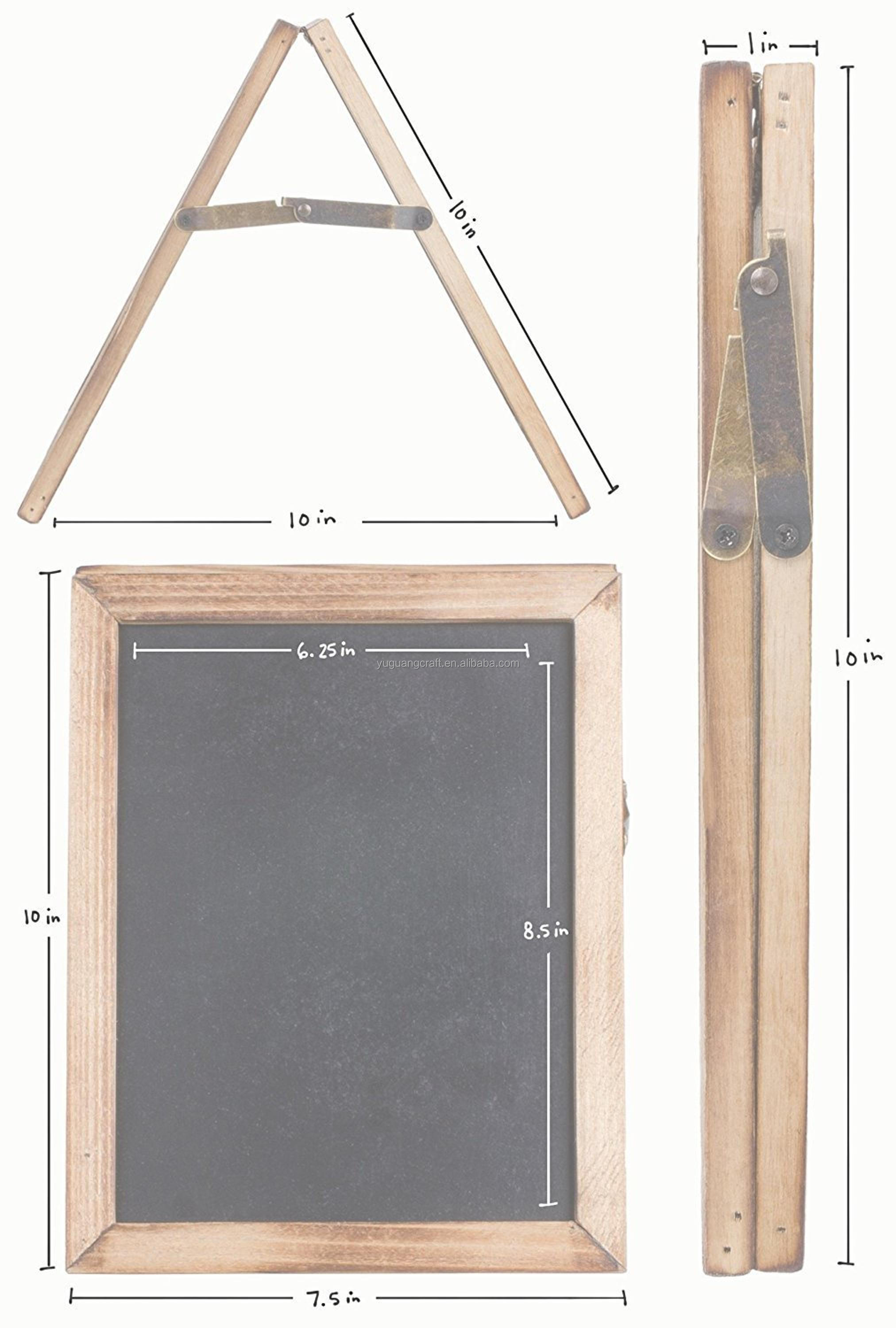 Antique Rustic Wood Collapsible Double Sided Chalkboard Sign