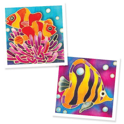 DIY Batik Handmade Painting 2-in-1 Box Kit - Clownfish Corals and Fish