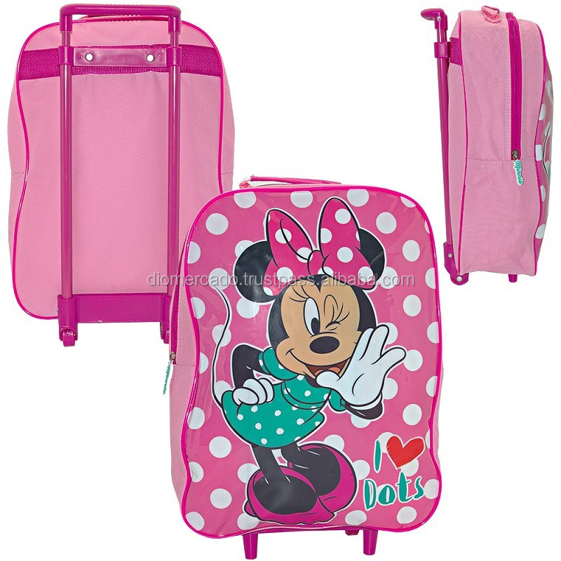 Travel case trolley for kids 38cm Minnie 2 wheels - Licensed for EU