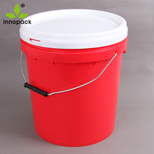 custom printed paint plastic container with spout 20 liter for chemical