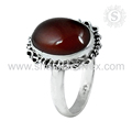Lovely red carnelian gemstone ring handmade 925 sterling silver rings jewelry wholesale store