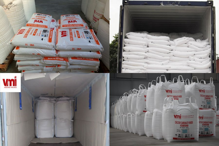 White Gold made in Vietnam is Calcium Carbonate powder