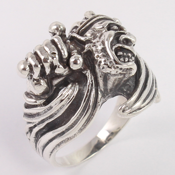Vintage Jewelry 925 Solid Sterling Silver Men's Jewelry Bikers Finger Ring Choose Any Size