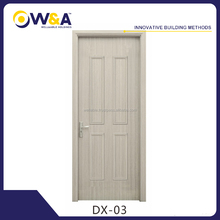 Modern White Flat Wooden Panel Interior Room WPC Doors Manufacturer