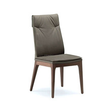 Black metal Wood dining chair for restaurant Cafe with metal and pellet