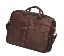 buy your own design leather laptop bag from indian supplier