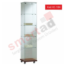 Full Vision Shopfitting Glass Showcase Display Cabinets for Jewelry Shop
