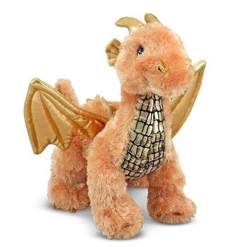 Soft plush Zephyr Luster Dragon Stuffed Animal toys with sound