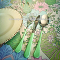 Enamel Handle Flatware Set of 5 Pieces in Stainless Steel Foodsafe
