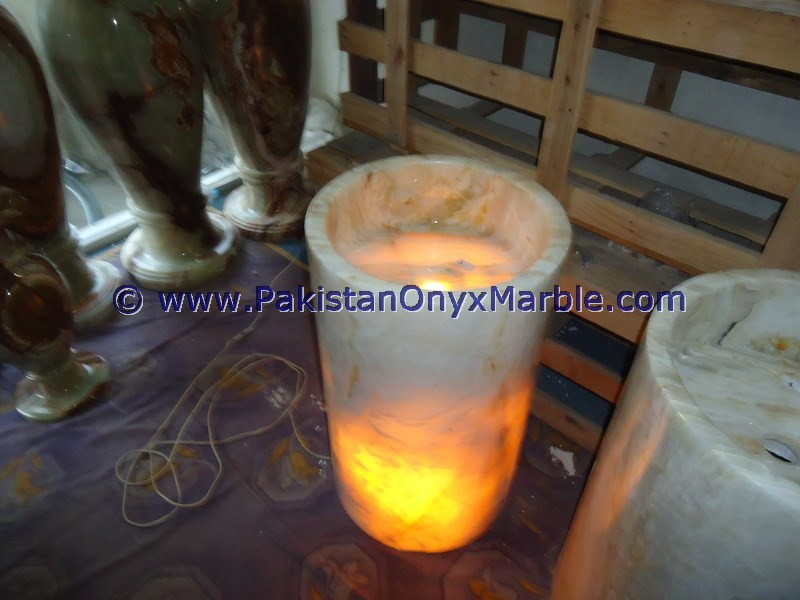 BEST QUALITY BACKLIT ONYX PEDESTALS SINKS