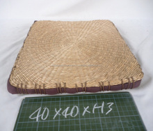 Square seagrass seat cushion durable handmade wicker stool cheap price fast delivery time