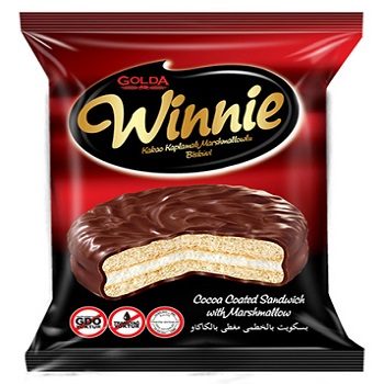 Winnie Cocoa Coated Marshmallow Biscuit 6 x 24 x 30g