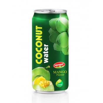 Coconut water suppliers with Mango flavour Aluminium can 500ml