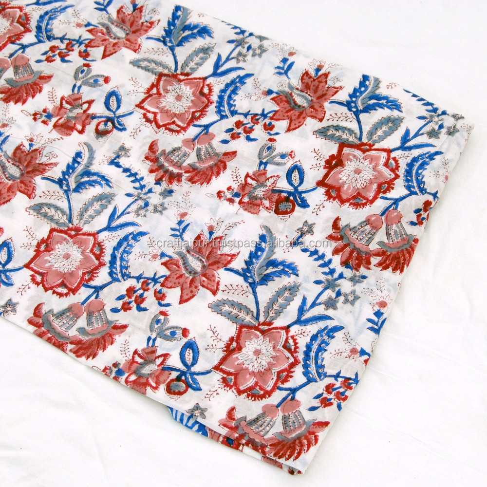 Wholesale indian hand block printed cotton fabric