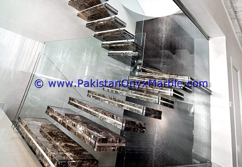 FINE QUALITY MARBLE STAIRS STEPS RISERS BLACK AND GOLD MARBLE MODERN DESIGN HOME OFFICE DECOR NATURAL MARBLE STAIRS