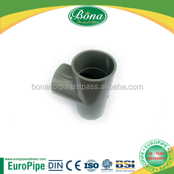 Drainage, irrigation equal tees pvc pipe, upvc connector