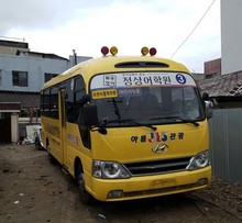 25 Seats Bus, 130 HP Used bus, 2008 year Used Hyundai County Bus