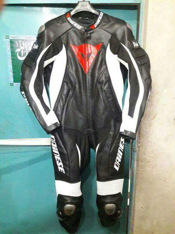 Motorbike leather racing suit One Piece / Bike racing Suite Cowhide leather
