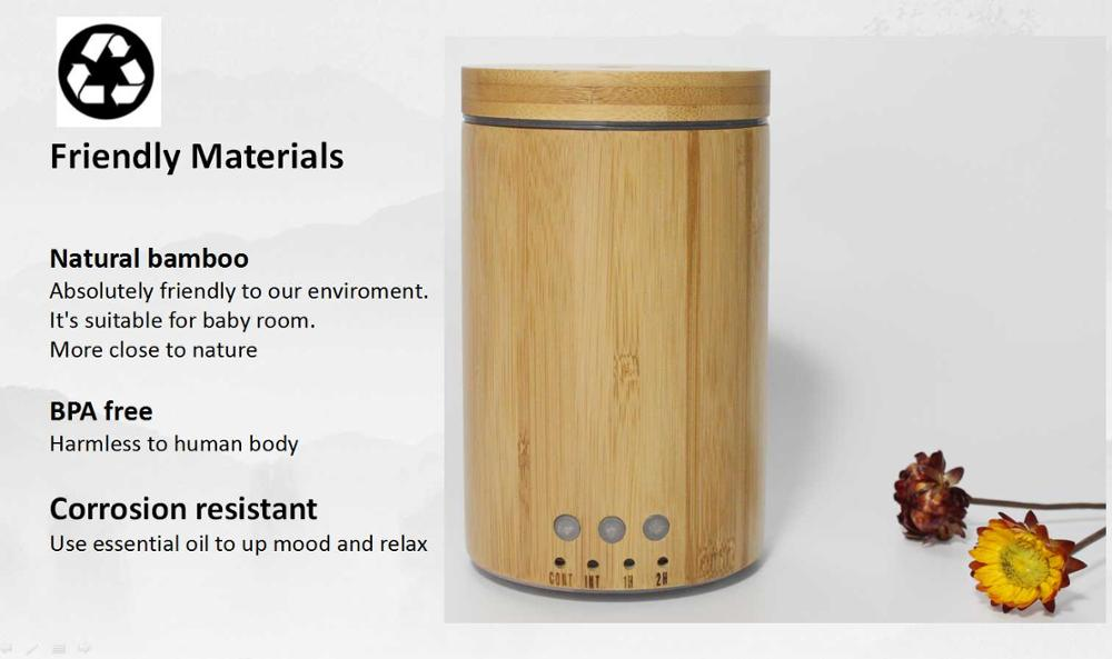 150ml ultrasonic commercial electric wooden aroma oil machine of aroma diffuser
