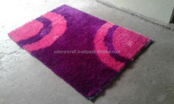multicolor latest design and style plain polyester rug