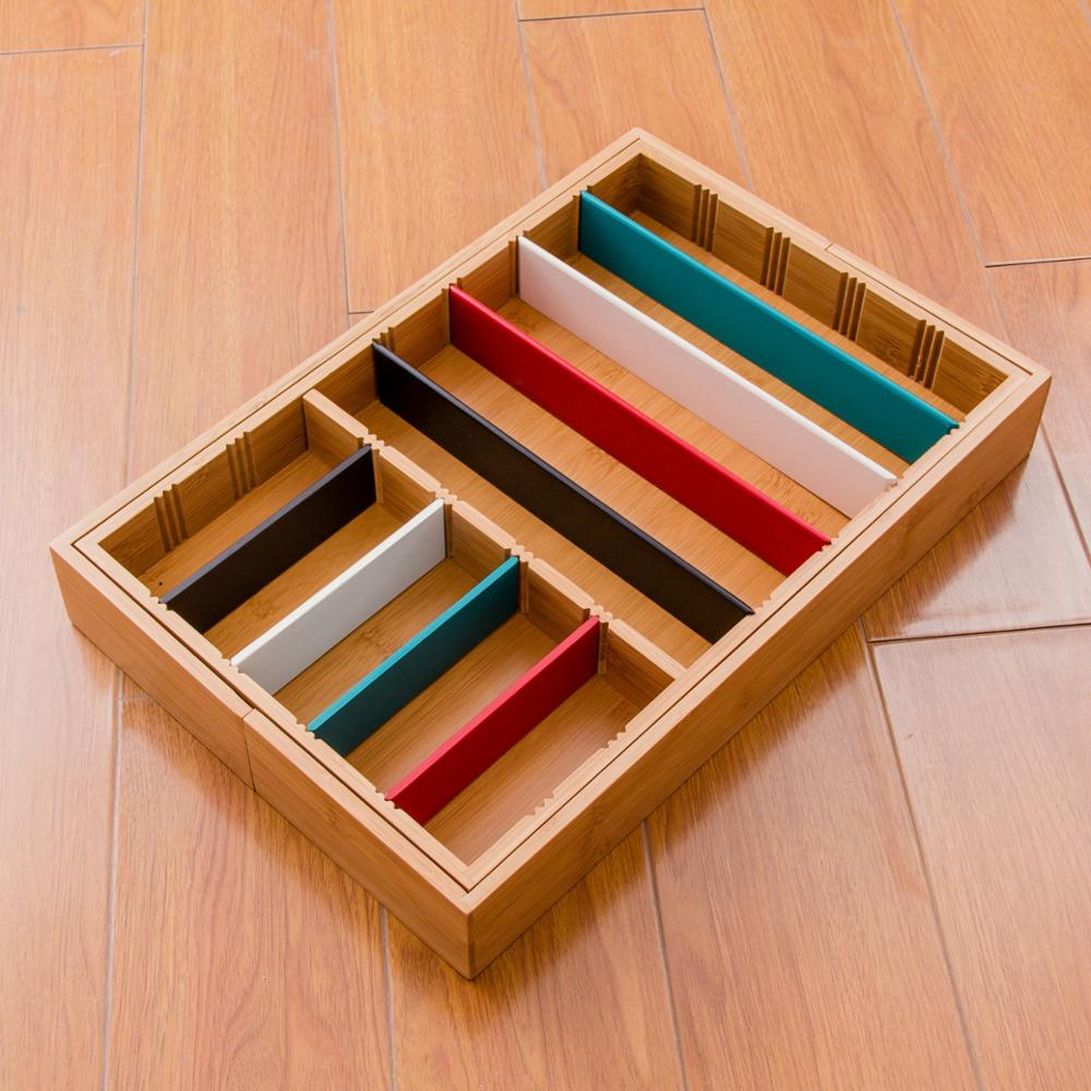 Flexible bamboo kitchen cooking utensil/cutlery box/case