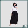 Rocella Diva Long Skirt Pants For Muslim Women Bubble Material Chiffon Offer Pockets With Waist Belt Long