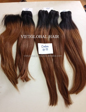 ombre color Vietglobal hair virgin vietglobal body loose straight blue ombre hair weaves