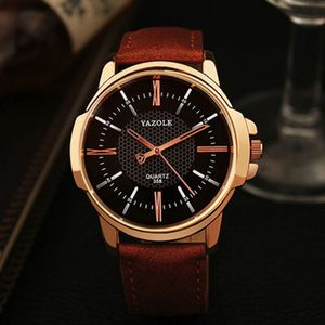 YAZOLE 358 Rose Gold Wrist Watch Men Top Brand Luxury Famous For Male Clock Quartz Watch Golden Wristwatch Relogio Masculino
