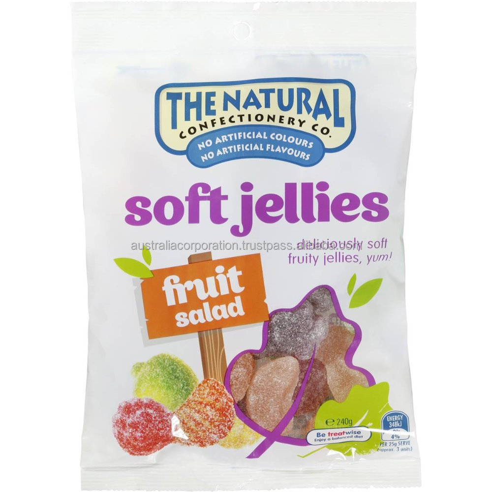 The Natural Confectionery Co Soft Jellies Fruit Salad 240gjelly candy lolly