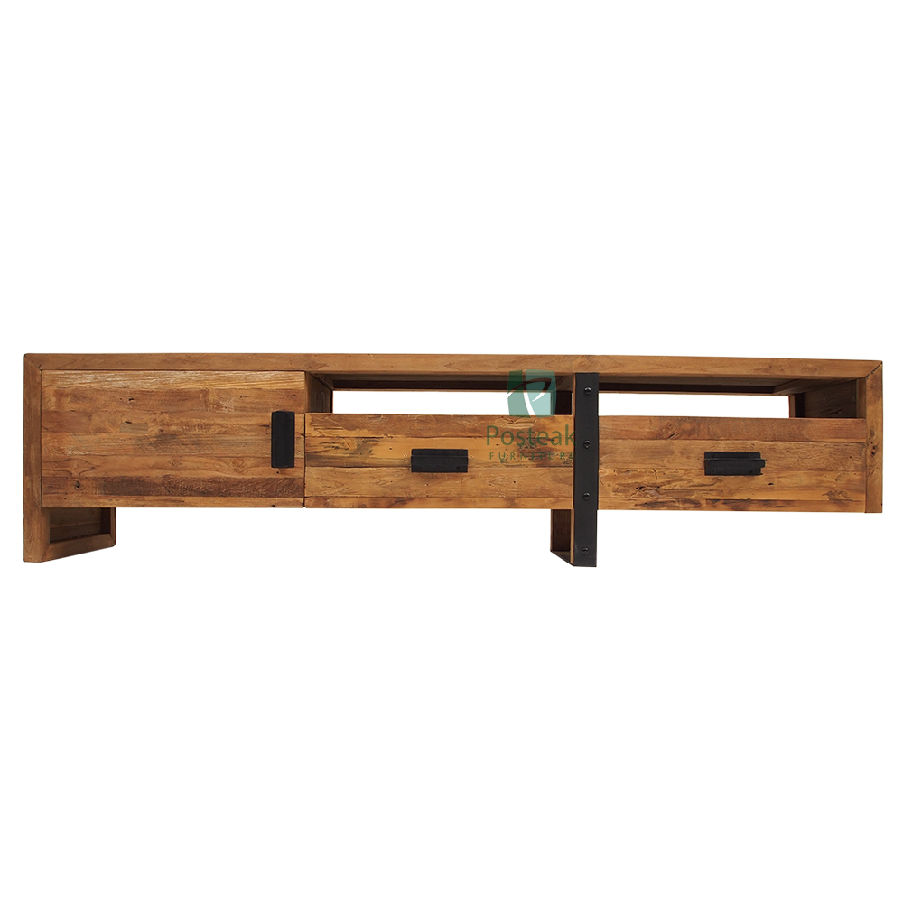 Industrial TV stand living room indoor furniture