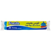 Foxlife 60 Liter plastic LDPE large size blue color recyclable garbage trash bag for household and cleaning